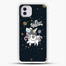 Load image into Gallery viewer, Unicorn Girl Planet iPhone 11 Case, White Rubber Case | JoeYellow.com