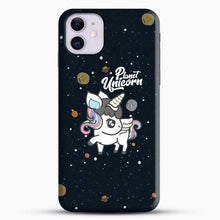 Load image into Gallery viewer, Unicorn Girl Planet iPhone 11 Case, Black Snap 3D Case | JoeYellow.com