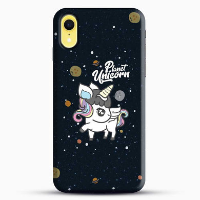 Unicorn Girl Planet iPhone XR Case, Black Snap 3D Case | JoeYellow.com