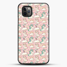 Load image into Gallery viewer, Unicorn Girl Rainbow Could And Star Pattern iPhone 11 Pro Max Case, Black Plastic Case | JoeYellow.com