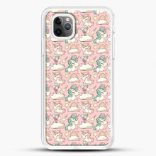 Load image into Gallery viewer, Unicorn Girl Rainbow Could And Star Pattern iPhone 11 Pro Max Case, White Rubber Case | JoeYellow.com
