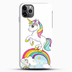 Unicorn Girl Rainbow iPhone 11 Pro Max Case, Black Snap 3D Case | JoeYellow.com