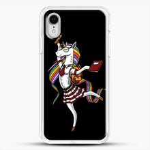 Load image into Gallery viewer, Unicorn Girl School iPhone XR Case, White Rubber Case | JoeYellow.com