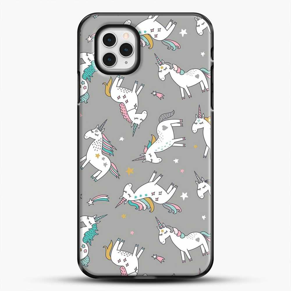 Unicorn Girl Starry Pattern iPhone 11 Pro Case, Black Plastic Case | JoeYellow.com