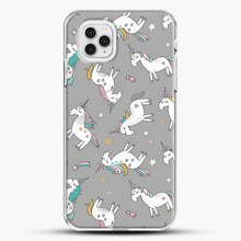 Load image into Gallery viewer, Unicorn Girl Starry Pattern iPhone 11 Pro Case, White Plastic Case | JoeYellow.com
