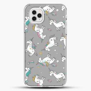 Unicorn Girl Starry Pattern iPhone 11 Pro Case, White Plastic Case | JoeYellow.com