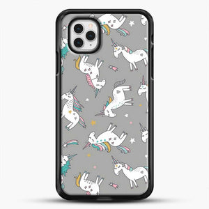 Unicorn Girl Starry Pattern iPhone 11 Pro Case, Black Rubber Case | JoeYellow.com