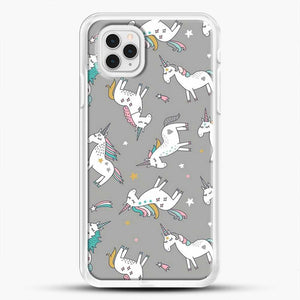Unicorn Girl Starry Pattern iPhone 11 Pro Case, White Rubber Case | JoeYellow.com