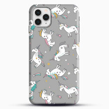 Load image into Gallery viewer, Unicorn Girl Starry Pattern iPhone 11 Pro Case, Black Snap 3D Case | JoeYellow.com