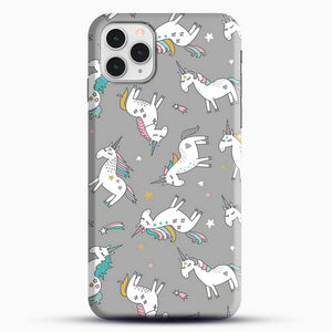 Unicorn Girl Starry Pattern iPhone 11 Pro Case, Black Snap 3D Case | JoeYellow.com