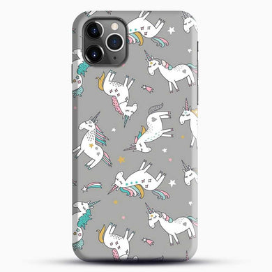 Unicorn Girl Starry Pattern iPhone 11 Pro Max Case, Black Snap 3D Case | JoeYellow.com