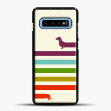 Load image into Gallery viewer, Very Long Dachshund Samsung Galaxy S10 Case