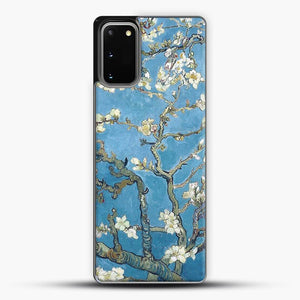 Vincent Van Gogh Branches With Almond Blossom Samsung Galaxy S20 Case, Black Plastic Case | JoeYellow.com