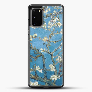 Vincent Van Gogh Branches With Almond Blossom Samsung Galaxy S20 Case, Black Rubber Case | JoeYellow.com