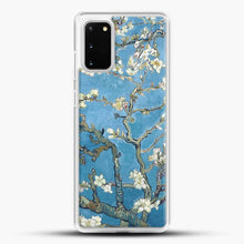 Load image into Gallery viewer, Vincent Van Gogh Branches With Almond Blossom Samsung Galaxy S20 Case, White Rubber Case | JoeYellow.com