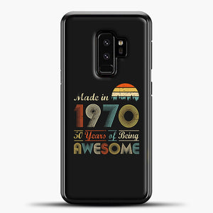 Vintage 1970 Made in 1970 50th birthday 50 years old Gift Samsung Galaxy S9 Plus Case