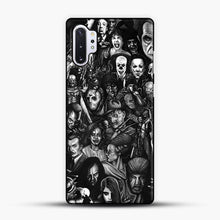 Load image into Gallery viewer, Vintage Horror Collection Movie Collage Samsung Galaxy Note 10 Plus Case, Black Plastic Case | JoeYellow.com