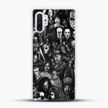 Load image into Gallery viewer, Vintage Horror Collection Movie Collage Samsung Galaxy Note 10 Plus Case, White Plastic Case | JoeYellow.com