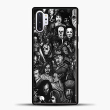 Load image into Gallery viewer, Vintage Horror Collection Movie Collage Samsung Galaxy Note 10 Plus Case, Black Rubber Case | JoeYellow.com