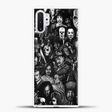 Load image into Gallery viewer, Vintage Horror Collection Movie Collage Samsung Galaxy Note 10 Plus Case, White Rubber Case | JoeYellow.com