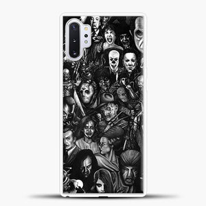 Vintage Horror Collection Movie Collage Samsung Galaxy Note 10 Plus Case, White Rubber Case | JoeYellow.com
