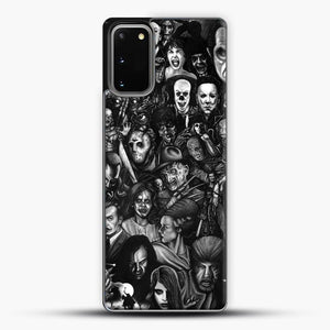 Vintage Horror Collection Movie Collage Samsung Galaxy S20 Case, Black Plastic Case | JoeYellow.com