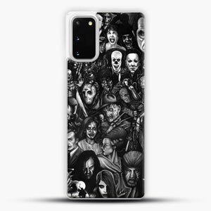 Vintage Horror Collection Movie Collage Samsung Galaxy S20 Case, White Plastic Case | JoeYellow.com