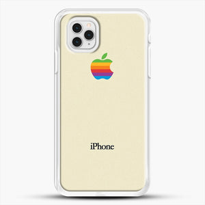 Vintage iPhone 11 Pro Case, White Rubber Case | JoeYellow.com