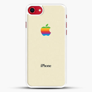 Vintage iPhone 8 Case, White Rubber Case | JoeYellow.com