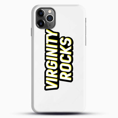 Virginity Rocks Retro iPhone 11 Pro Max Case, Black Snap 3D Case | JoeYellow.com