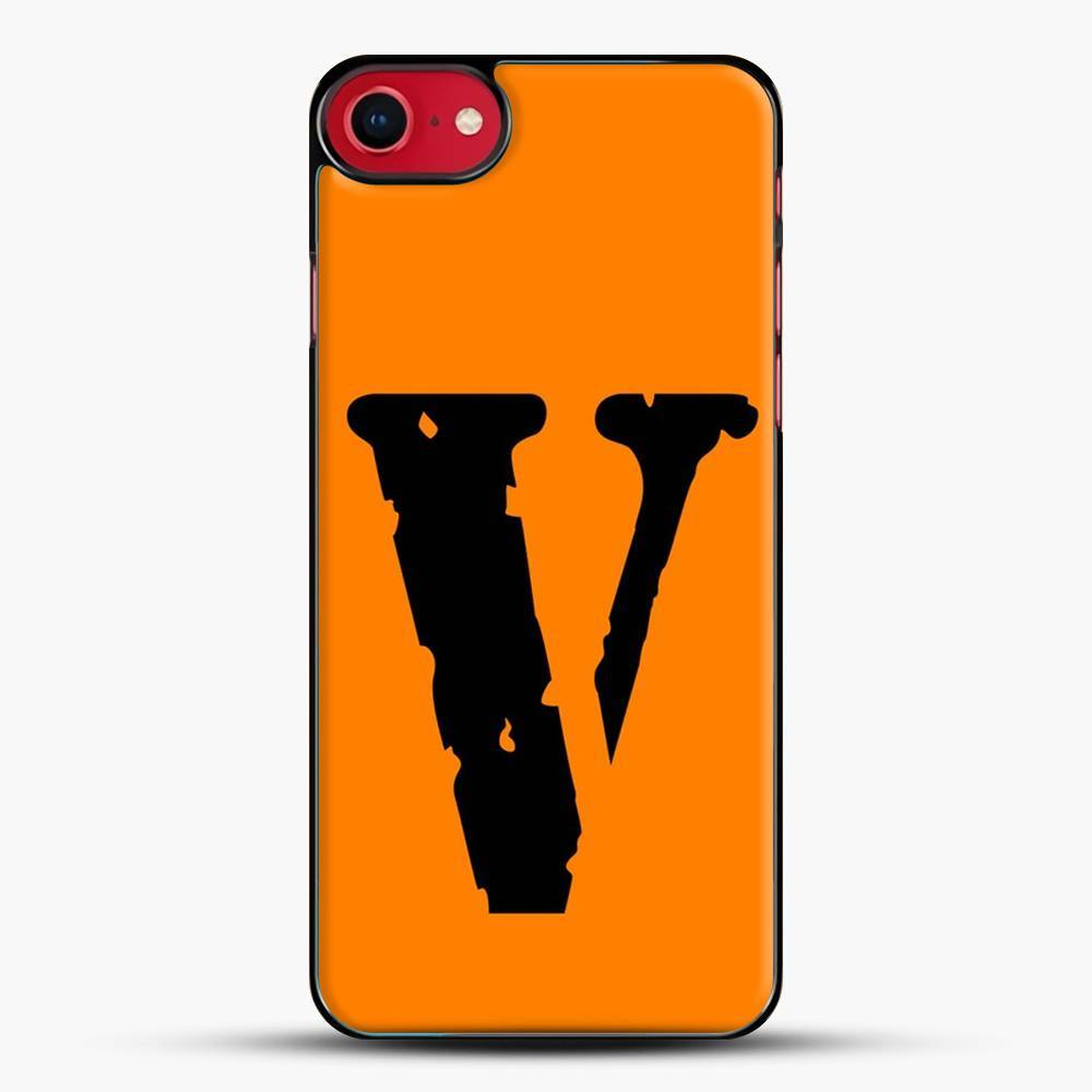 Vlone Logo iPhone SE 2020 Case, Black Plastic Case | JoeYellow.com
