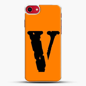 Vlone Logo iPhone SE 2020 Case, White Plastic Case | JoeYellow.com
