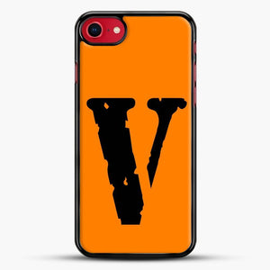 Vlone Logo iPhone SE 2020 Case, Black Rubber Case | JoeYellow.com