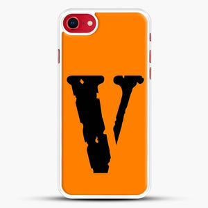 Vlone Logo iPhone SE 2020 Case, White Rubber Case | JoeYellow.com