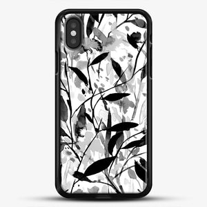 Wandering Wildflowers Black And White iPhone Case