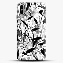 Load image into Gallery viewer, Wandering Wildflowers Black And White iPhone Case