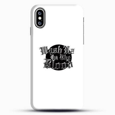 Wash Us In The Blood Black Cirle iPhone XS Case, Black Snap 3D Case | JoeYellow.com