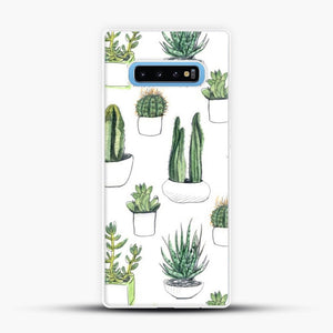 Watercolour Cacti And Succulents Samsung Galaxy S10 Case