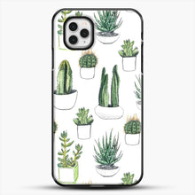 Load image into Gallery viewer, Watercolour Cacti And Succulents iPhone 11 Pro Case, Black Plastic Case | JoeYellow.com
