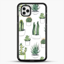 Load image into Gallery viewer, Watercolour Cacti And Succulents iPhone 11 Pro Case, Black Rubber Case | JoeYellow.com