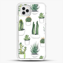 Load image into Gallery viewer, Watercolour Cacti And Succulents iPhone 11 Pro Case, White Rubber Case | JoeYellow.com