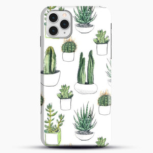Watercolour Cacti And Succulents iPhone 11 Pro Case, Black Snap 3D Case | JoeYellow.com