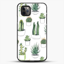 Load image into Gallery viewer, Watercolour Cacti And Succulents iPhone 11 Pro Max Case, Black Plastic Case | JoeYellow.com