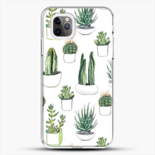 Load image into Gallery viewer, Watercolour Cacti And Succulents iPhone 11 Pro Max Case, White Plastic Case | JoeYellow.com