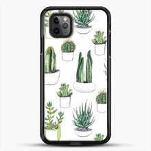 Load image into Gallery viewer, Watercolour Cacti And Succulents iPhone 11 Pro Max Case, Black Rubber Case | JoeYellow.com