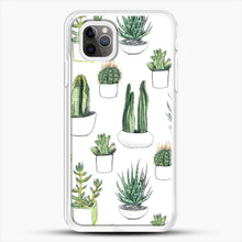 Load image into Gallery viewer, Watercolour Cacti And Succulents iPhone 11 Pro Max Case, White Rubber Case | JoeYellow.com