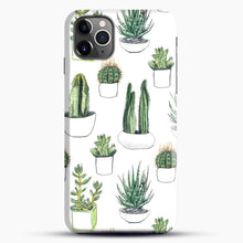 Load image into Gallery viewer, Watercolour Cacti And Succulents iPhone 11 Pro Max Case, Black Snap 3D Case | JoeYellow.com