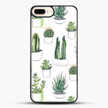 Load image into Gallery viewer, Watercolour Cacti And Succulents iPhone 7 Plus Case, Black Plastic Case | JoeYellow.com