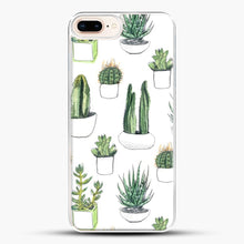 Load image into Gallery viewer, Watercolour Cacti And Succulents iPhone 7 Plus Case, White Plastic Case | JoeYellow.com