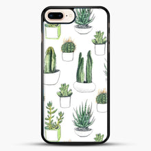 Load image into Gallery viewer, Watercolour Cacti And Succulents iPhone 7 Plus Case, Black Rubber Case | JoeYellow.com
